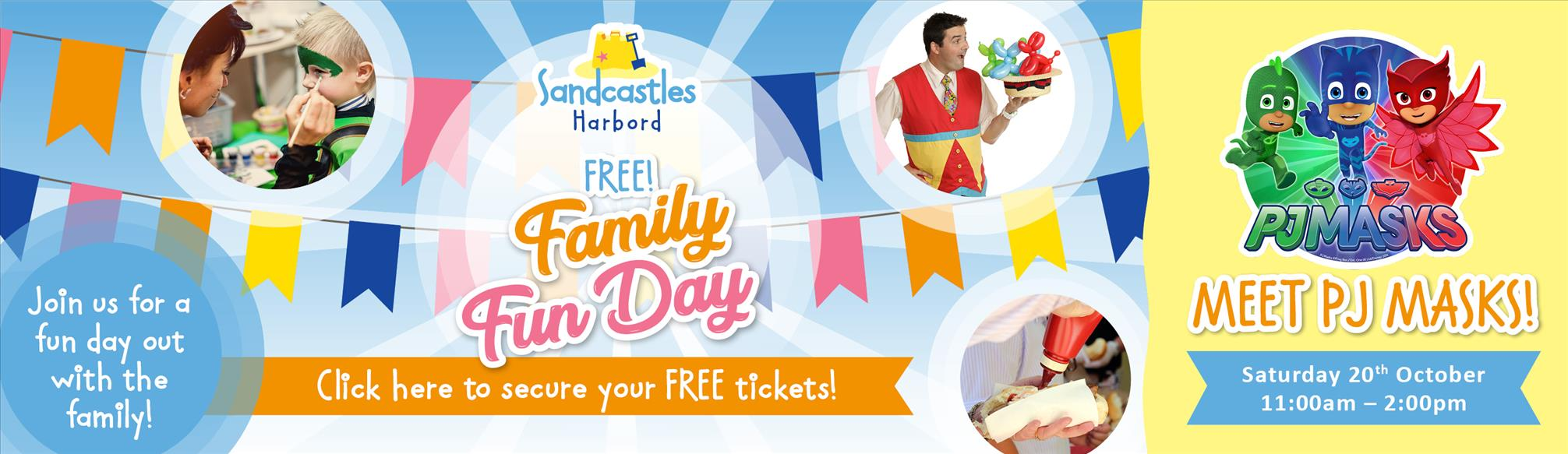 Meet PJ masks at our FREE family fun day at Sandcastles Harbord!