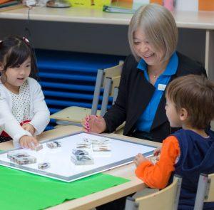 educator and child